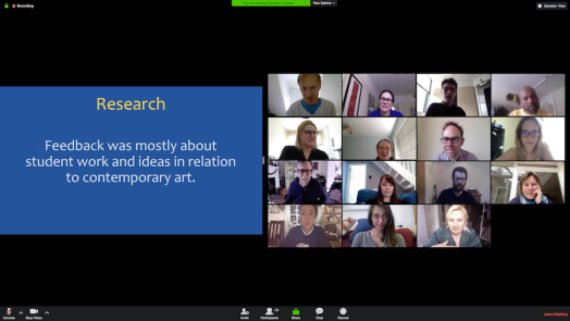 fig iii - View of Zoom video conferencing service in Shared Screen View adjusted to show more participants v2